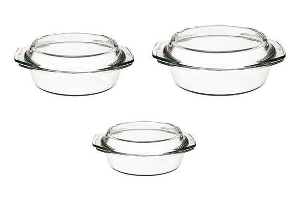 Набор кастрюль из жаропрочного стекла 6 предметов Simax s301