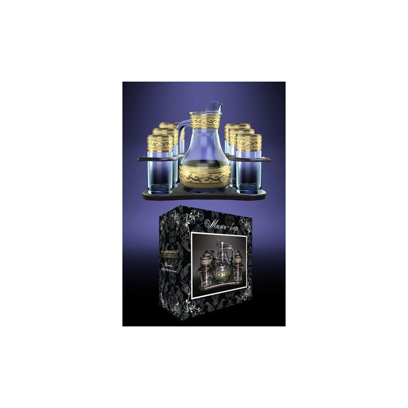 Набор для напитков 8пр декор с рисунком Версаче Гусь хрустальный GE08-3944/402-БС
