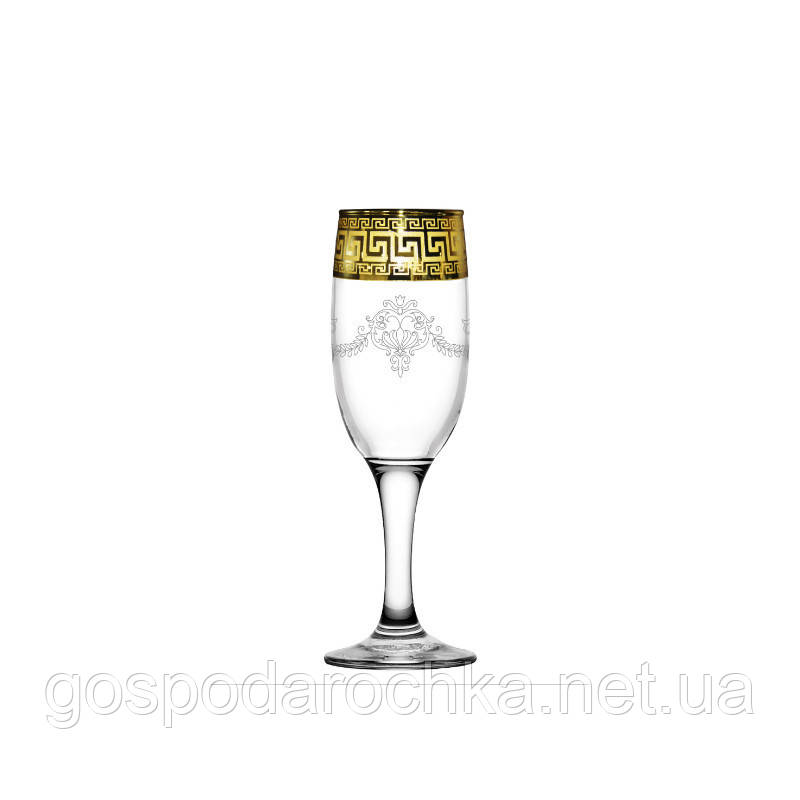 Бокалы для шампанского 190 мл / 6 шт (Бистро) декор Барокко