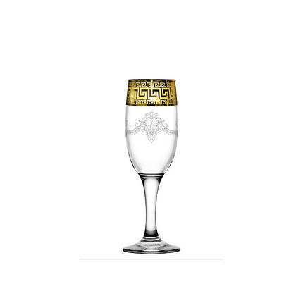 Бокалы для шампанского 190 мл / 6 шт (Бистро) декор Барокко, фото 2
