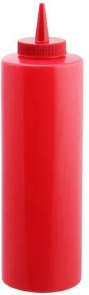Диспенсер пластиковый для соусов и сиропов красного цвета V 700 мл (шт), фото 2