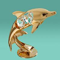 """Фигурка """"Дельфин"""" Crystocraft с кристаллами Swarovski, 0031-001"""