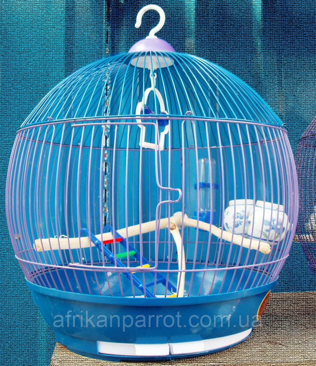 Клетка для канареек, попугаев. (Бочонок) д39*42см