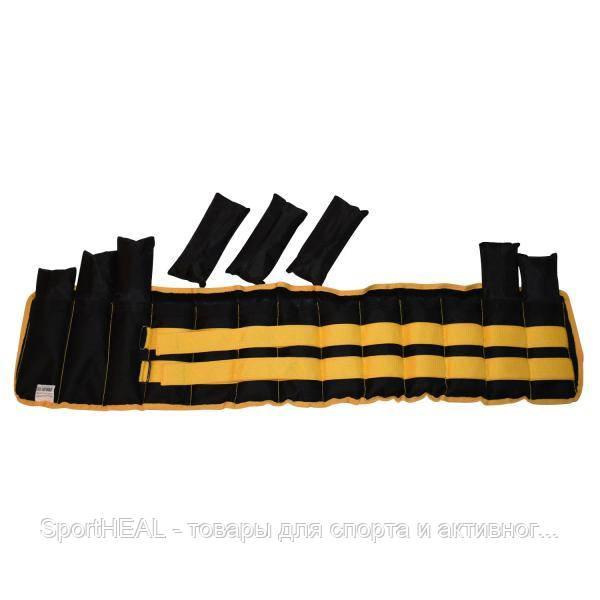 Пояс-утяжелитель Champion наборной 7 кг желто-черный