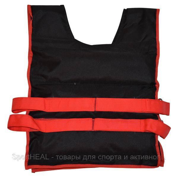 Жилет утяжелительный Champion 12 кг черно-красный, фиксированный вес