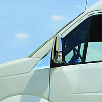 Накладка на стекло косынку Volkswagen Crafter (Фольксваген Крафтер), нерж.