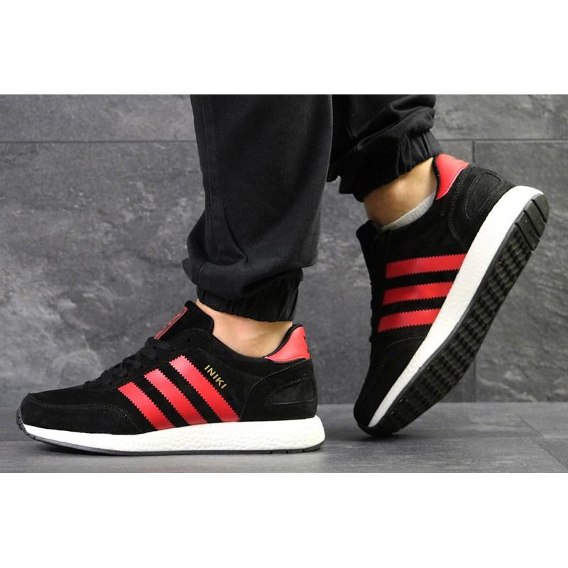 8fc91bff Мужские кроссовки Adidas Iniki черные с красным р.43 Акция -48%! -