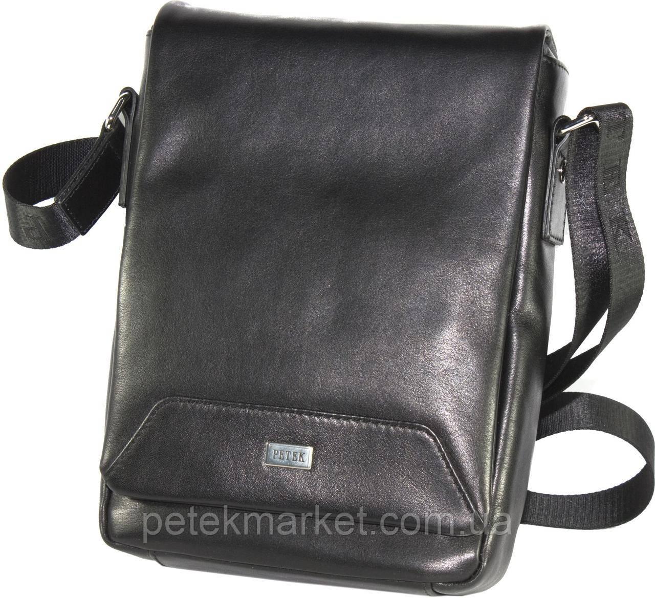 Кожаная мужская сумка Petek 3907