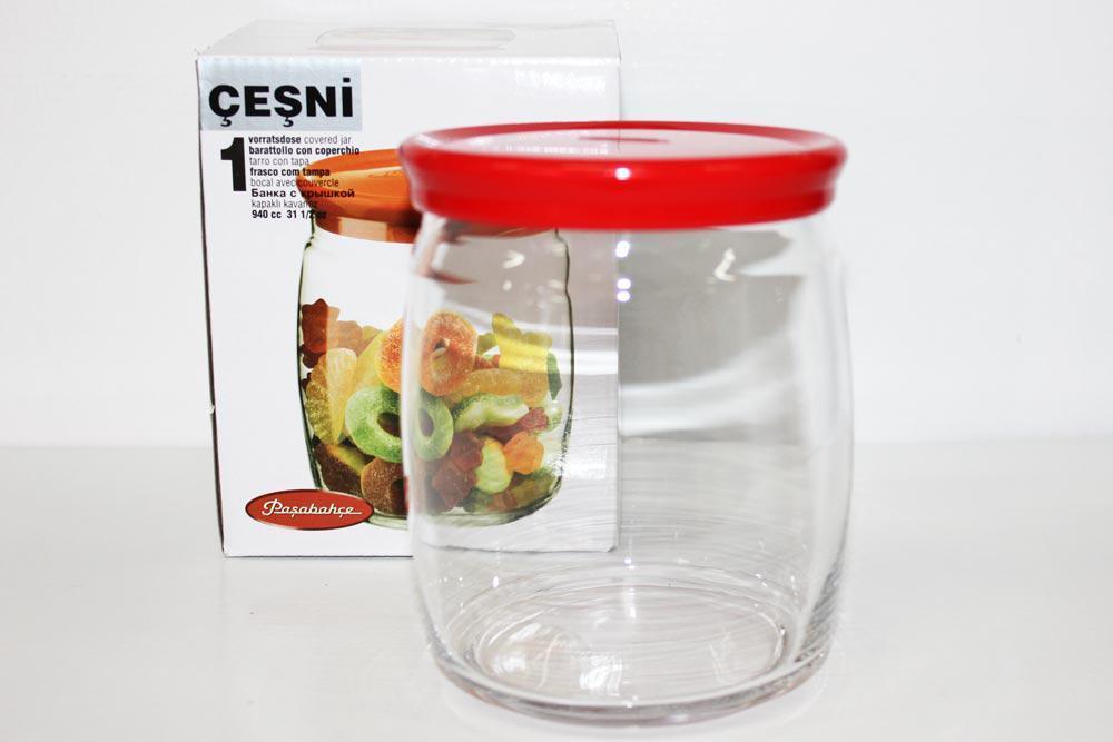 Банка для сыпучих продуктов Pasabahce Чешни 1шт - 940мл (43004)