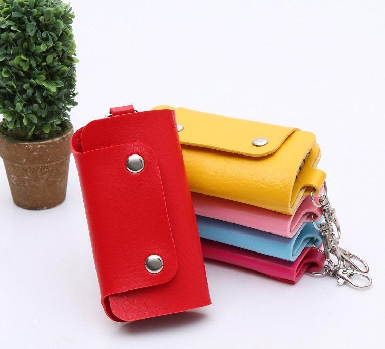 Ключница карманная женская Bared red