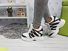 Сникерсы кроссовки на платформе с танкеткой белые в стиле LV, фото 2
