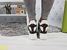 Сникерсы кроссовки на платформе с танкеткой белые в стиле LV, фото 3