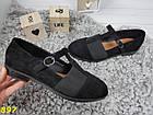 Туфли на низком ходу с резинкой черные, фото 2