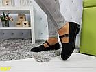 Туфли на низком ходу с резинкой черные, фото 4