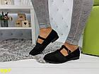 Туфли на низком ходу с резинкой черные, фото 5