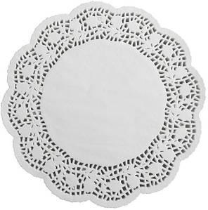 Салфетки бумажные круглые ажурные Ø 370 мм (уп 100 шт)