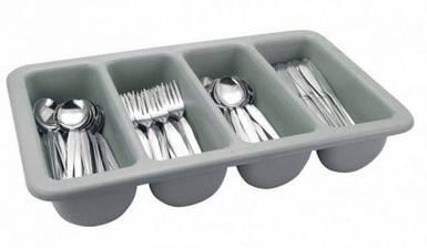 Ящик пластиковый четырех-секционный для хранения столовых приборов 510*280*90 мм (шт)