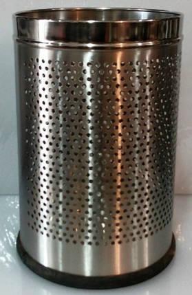 Корзина нержавеющая перфорированная для мусора V 7000 мл;H 310 мм (шт), фото 2