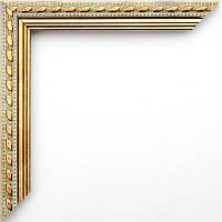 Фоторамка 15x21 21 мм мрамор с золотом