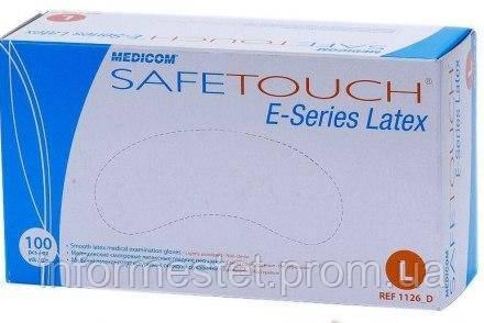 Перчатки латексные опудренные размер L  MEDICOM SAFE TOUCH (Медиком Сейф Тач) 100 шт.