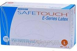 Перчатки латексные опудренные размер L, MEDICOM SAFE TOUCH (Медиком Сейф Тач) 100 шт.