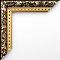 Фоторамка 15x21 30 мм коричневая с золотом