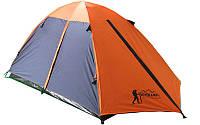 Палатка кемпинговая 3-х местная с тентом и коридором TOURIST CT17103