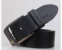 Мужской кожаный ремень Armani (308) black