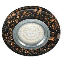 Встраиваемый светильник Feron 8585-2 черный, с LED подсветкой