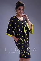 Выразительное летнее платье  в горошек супер батал