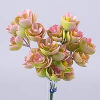 Букет-  травка водная лилия розовая зелень искусственная