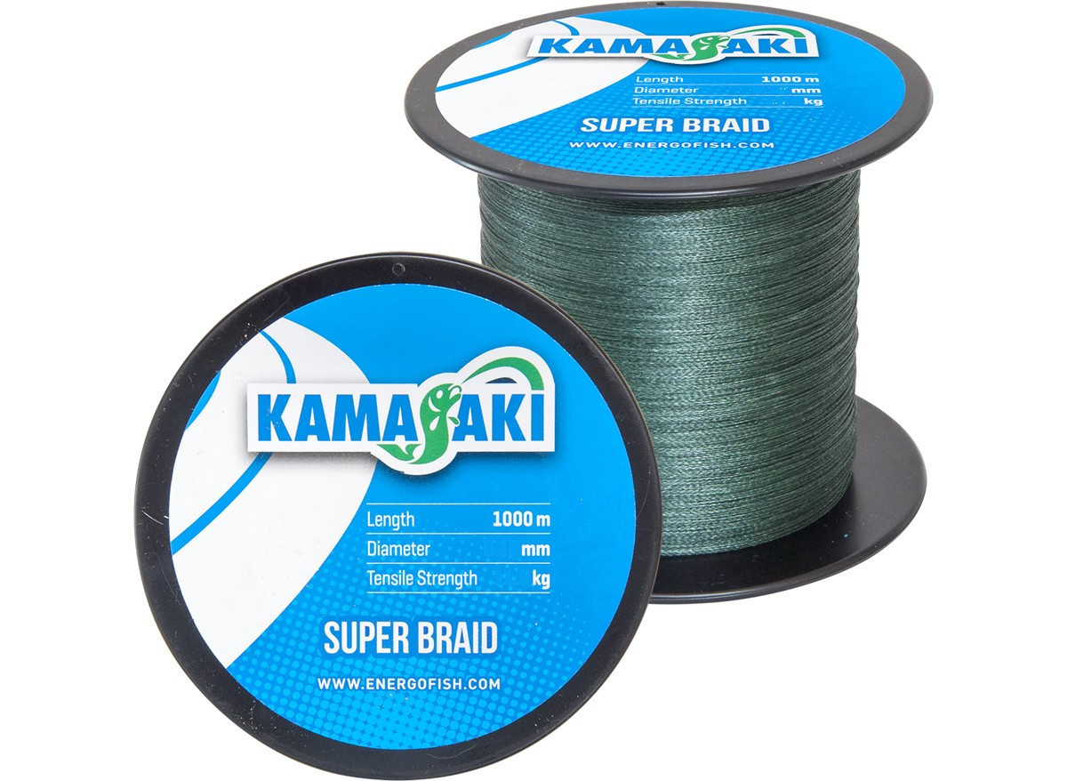 Шнур Energofish Kamasaki Super Braid Green 1000м 0.10мм 7.6кг (30520910)