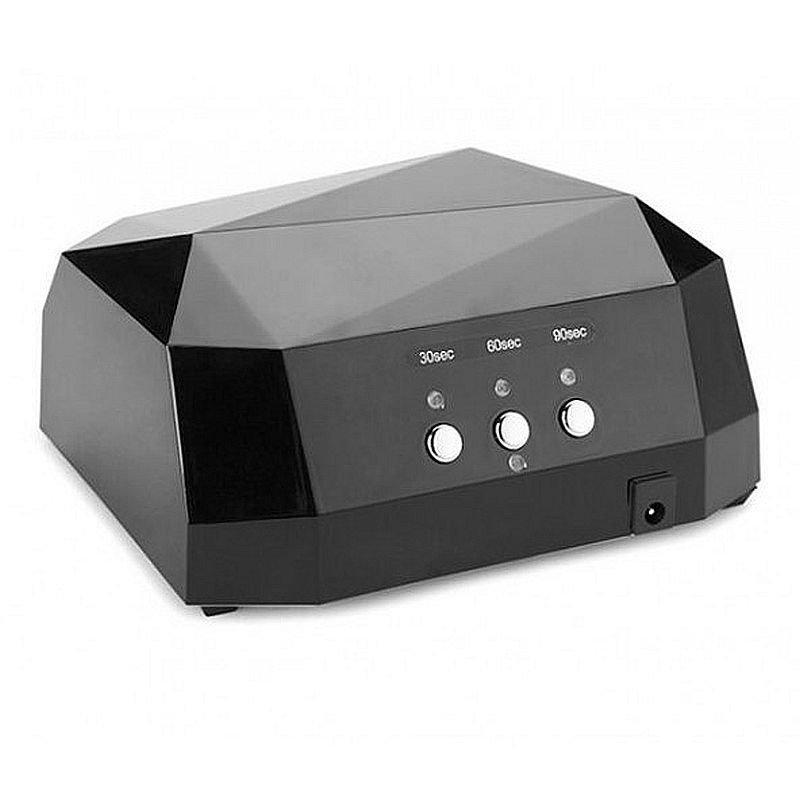 Гібридна сенсорна лампа Diamond Led+Ccfl для манікюру 36Вт, black