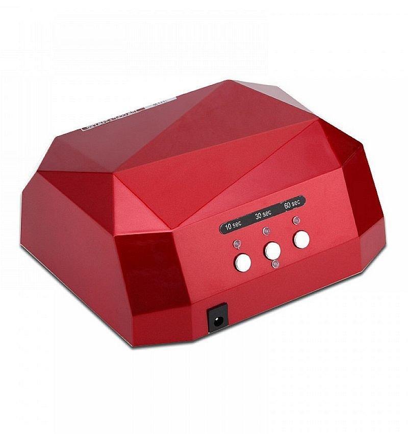 Гібридна сенсорна лампа Diamond Led+Ccfl для манікюру 36Вт, burgundy