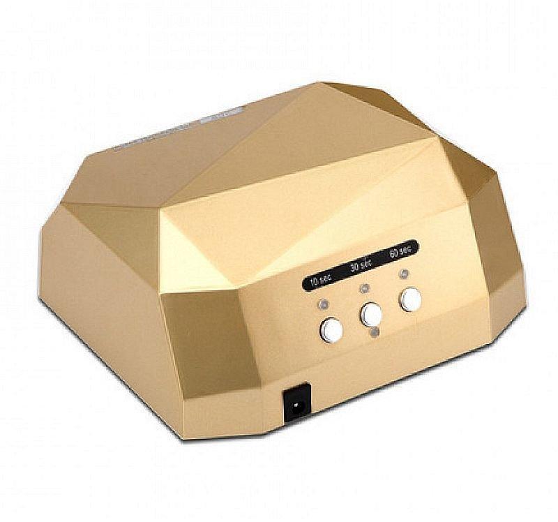 Гібридна сенсорна лампа Diamond Led+Ccfl для манікюру 36Вт, gold