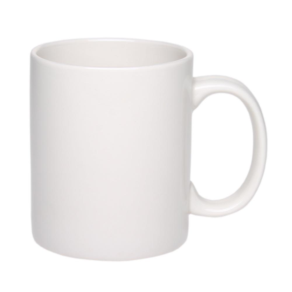 Кружка Том керамическая (евроцилиндр) белая под нанесение логотипа от 100 шт