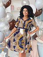 403380496f0 Платье рубашка с пуговицами на груди весна-лето леопард с цепями