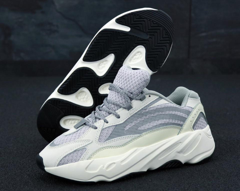 Кроссовки мужские Adidas Yeezy Boost 700 реплика ААА+, размер 41-42,44-45 серый (живые фото), фото 1