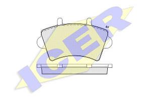 Тормозные колодки передние дисковые Movano , Master , Interstar  ICER 141442