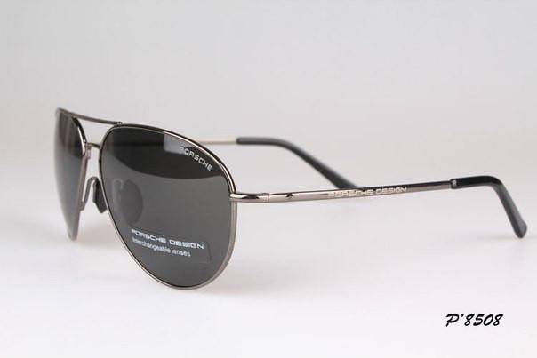 Солнцезащитные очки в стиле Porsche Design c поляризацией (p-8508 new хром)  - e765ca5503852