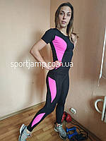 Одежда женская для спорта с РОЗОВЫМИ вставками 42-48 размер