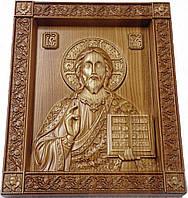 Икона деревянная, резная Господь Вседержитель