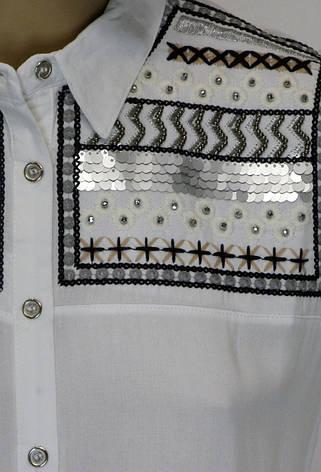 Жіноча сорочка з вишивкою із паєток, фото 2