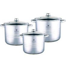 Zurrichberg ZBP-7002 набір посуду 6 предметів кастюль 3 шт+ 3 кришки 1 якісна посуд