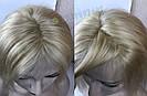 Парик из натуральных волос, каре блонд на сетке, фото 8