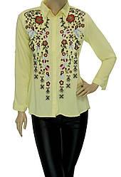 жіноча сорочка з вишивкою із штапеля