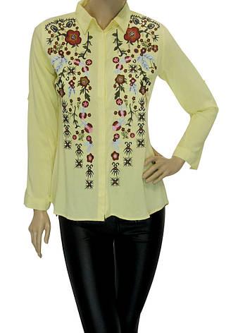 жіноча сорочка з вишивкою із штапеля, фото 2