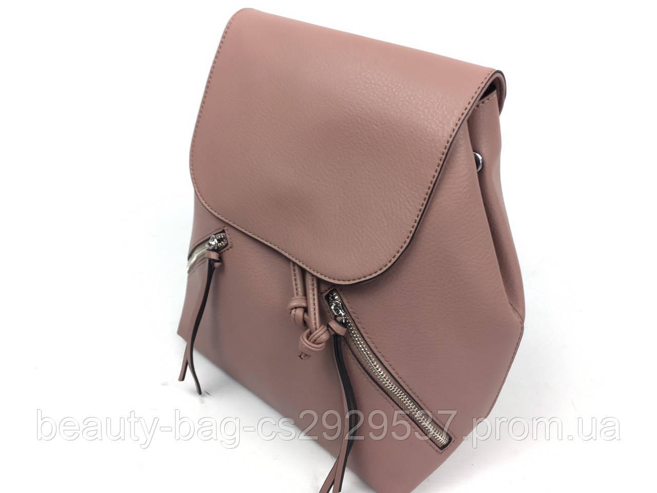 Рюкзак молодежный 3156 р-к Италия размер 27х30х15 см розовый