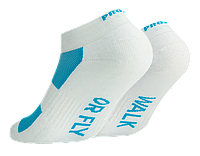 Тренировочные носки бело-голубые