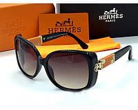 Солнцезащитные очки Hermes (0302)  black Lux